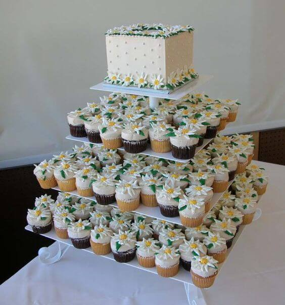 Safeway cupcake cake for wedding
