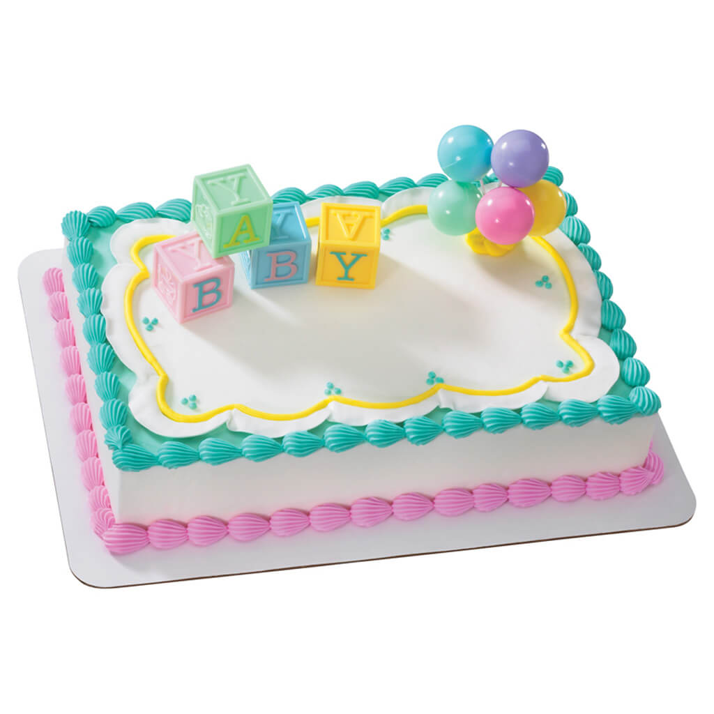 Kroger Baby Shower Cakes Blocks Cake