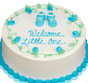 cake for boy's baby shower