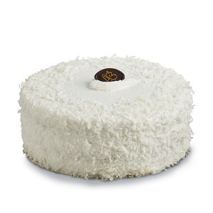 cake covered in coconut
