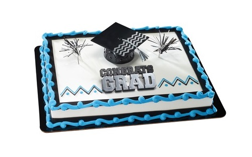 cake decorated with graduation cap