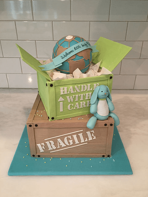 couture cakes baby boy cake
