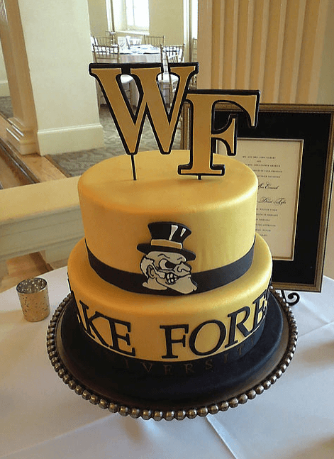 couture cakes wake forest university cake
