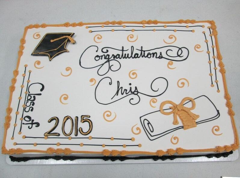 market basket cakes graduation cake