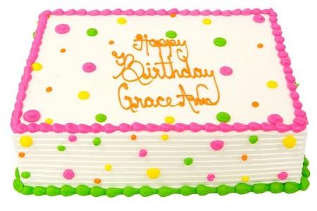 dotted birthday cake