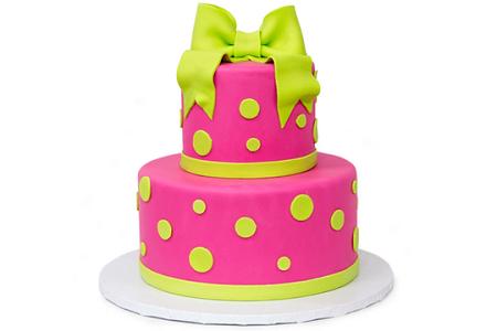 neon ribbon cake