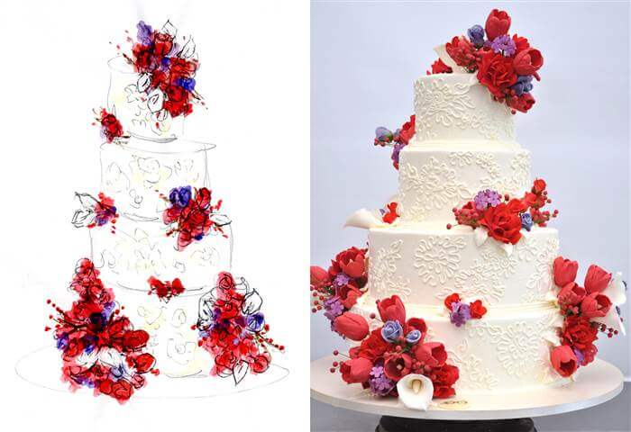 Sylvia Weinstock Wedding Cake