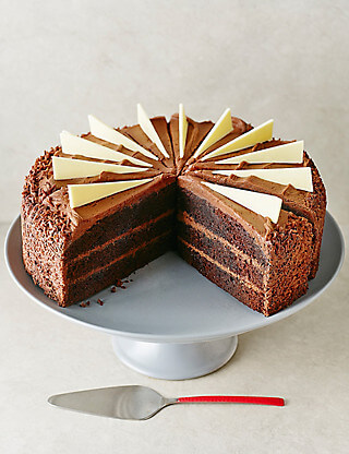 marks and spencer triple layer cake