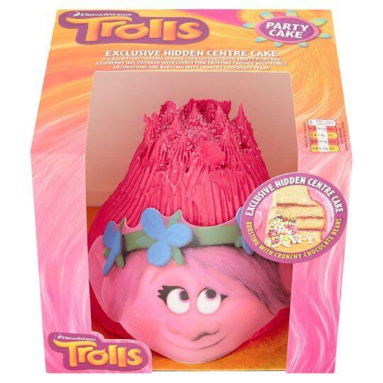 trolls birthday cake