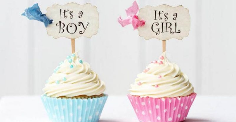 boy baby shower cake and girl baby shower cake