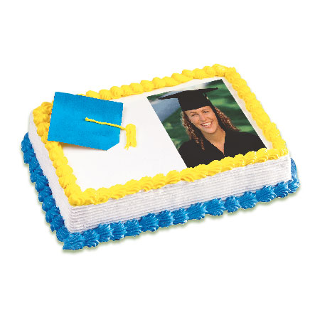 graduation cake customized with picture