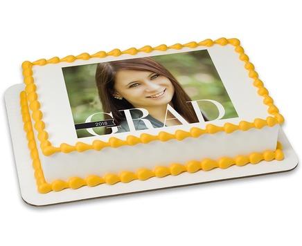 graduate photo cake