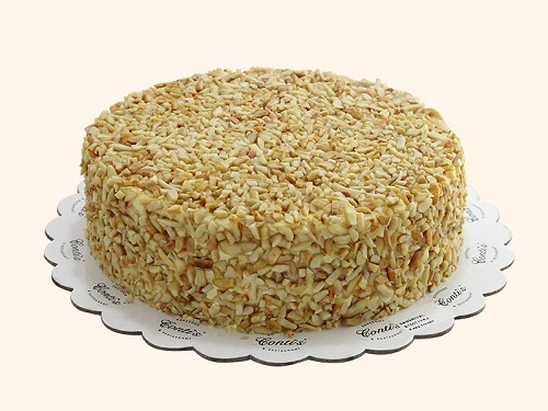 cake covered in almonds