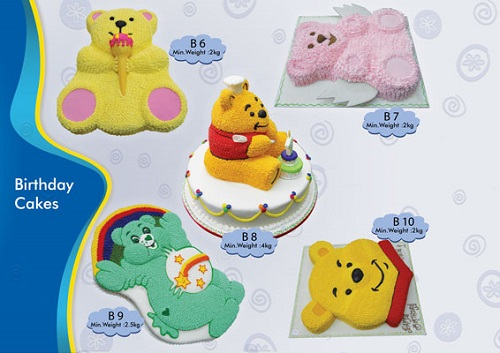 cakes in the shape of bears