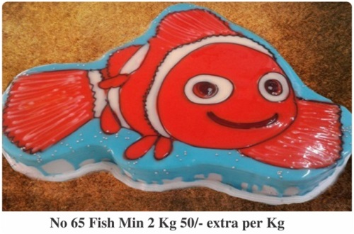 cake shaped like Nemo