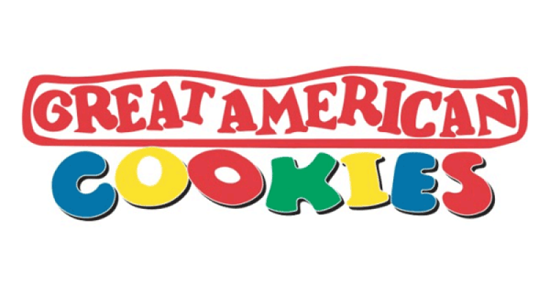 logo for great american cookies