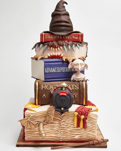 Tiered Harry Potter Themed Cake