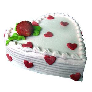 cake shaped like a heart