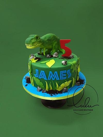 jurassic park themed cake