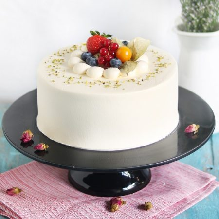 cake with rose and lychee