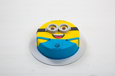 cake shaped like a minion