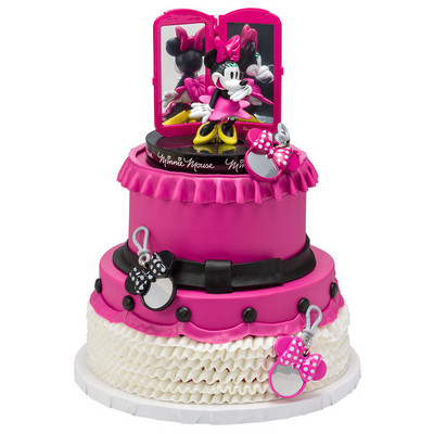 Pink Cake With Minnie Mouse Theme