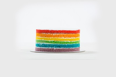 rainbow looking cake