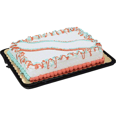 sheet cake with colorful decorations