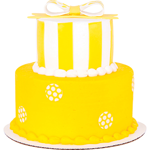 yellow and white cake