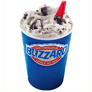 Blizzard shake dairy queen
