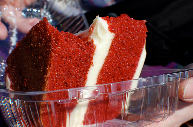 red velvet cake for take out order
