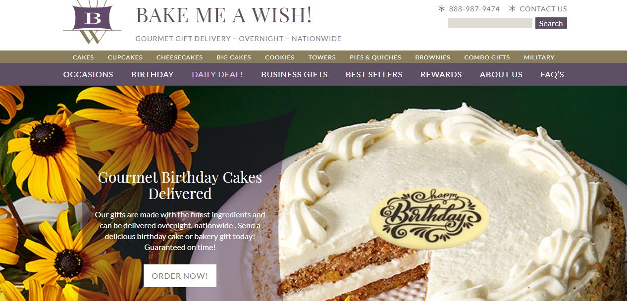 bake me a wish website