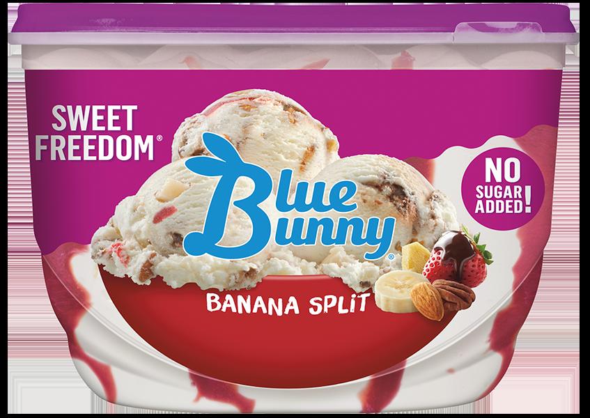 banana split ice cream by blue bunny