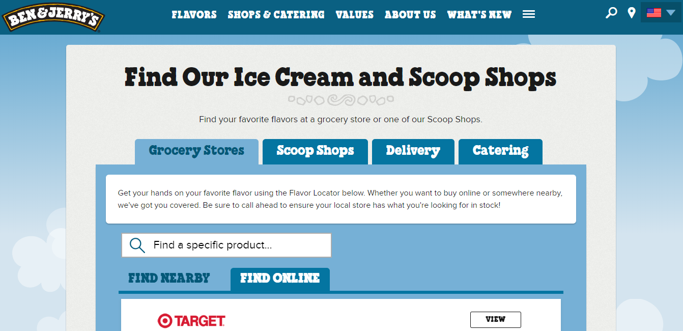 ben and jerrys website