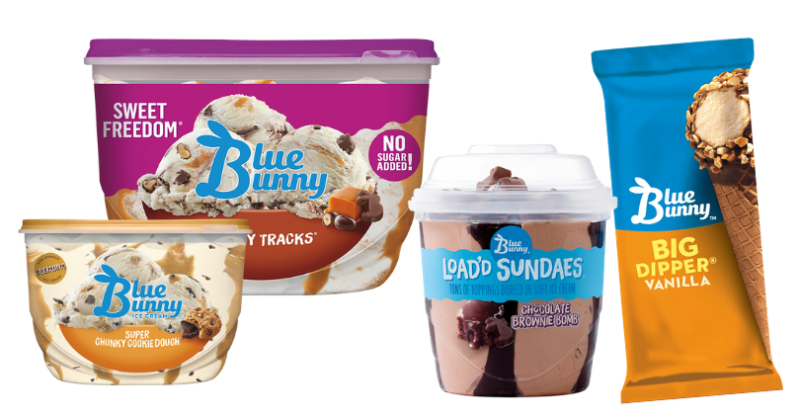 blue bunny ice creams and sundaes