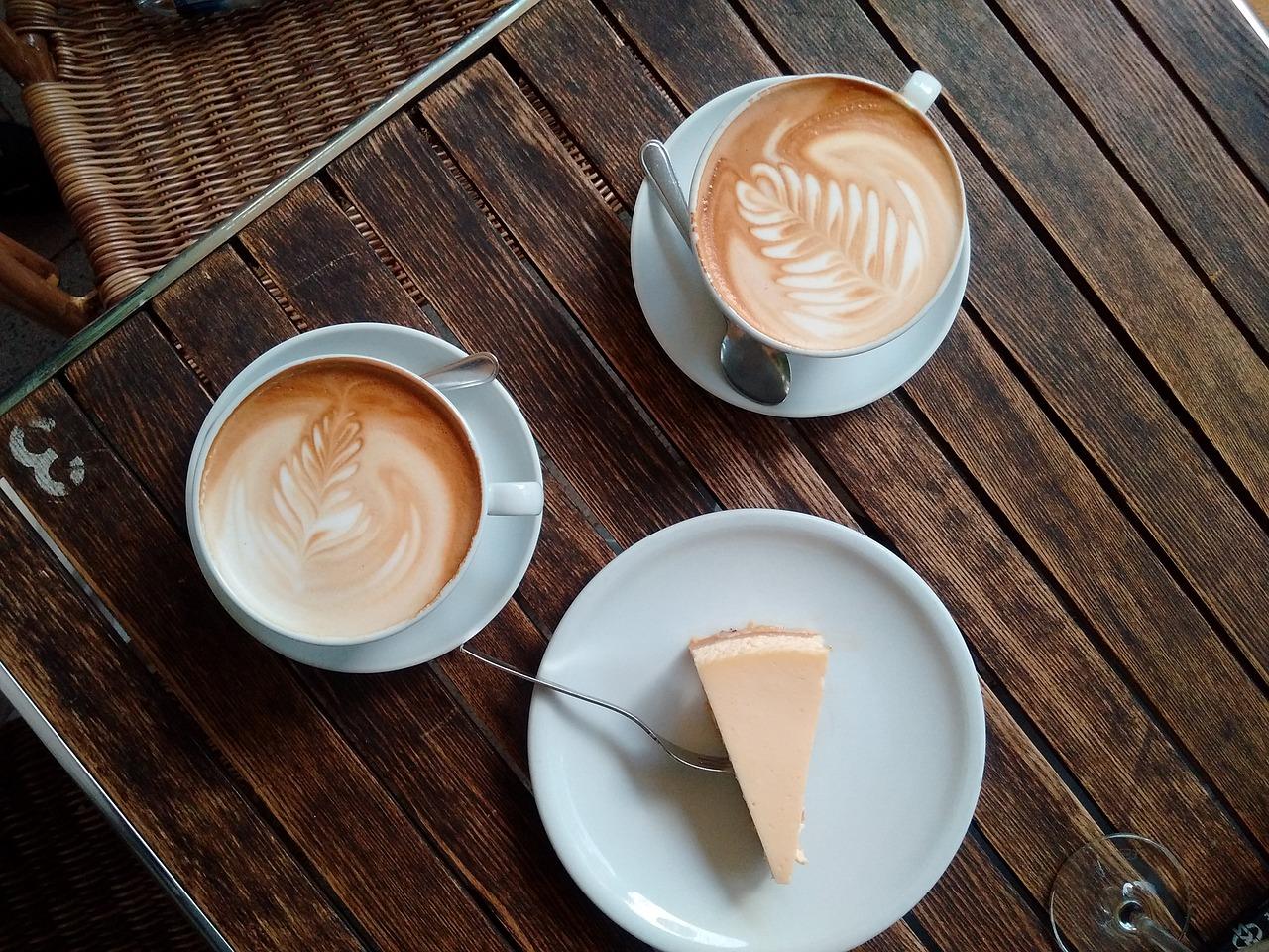 coffee and pumpkin cheesecake