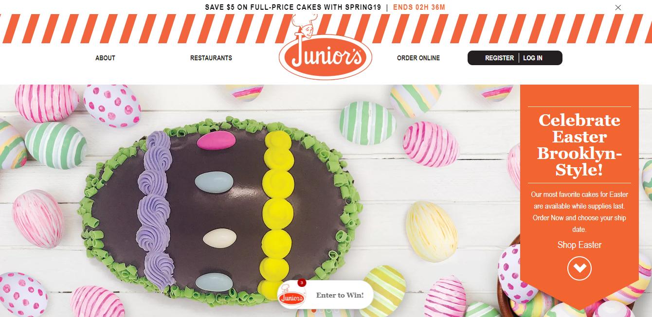juniors cheesecake website