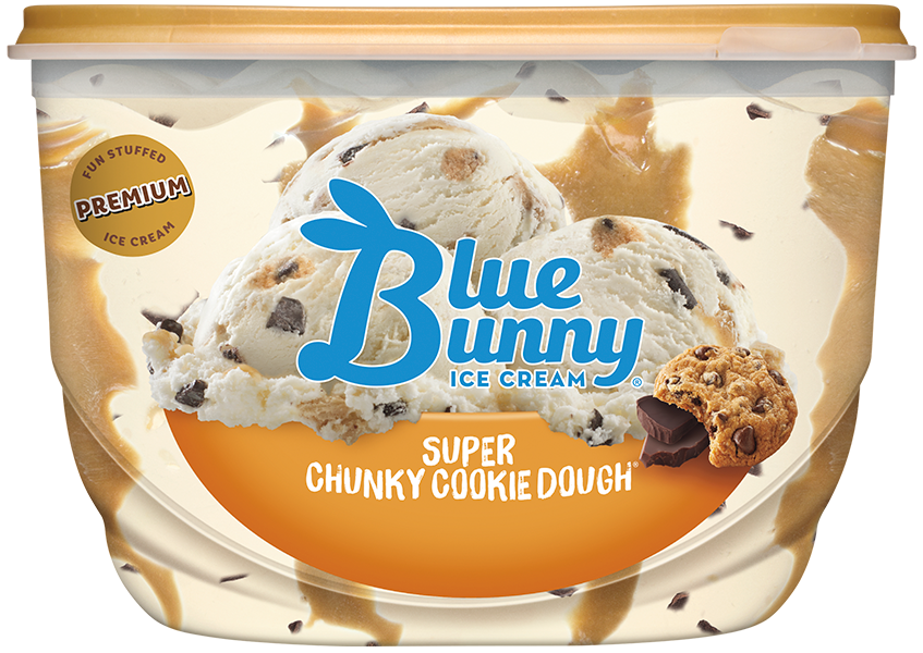 super chunky cookie dough ice cream by blue bunny