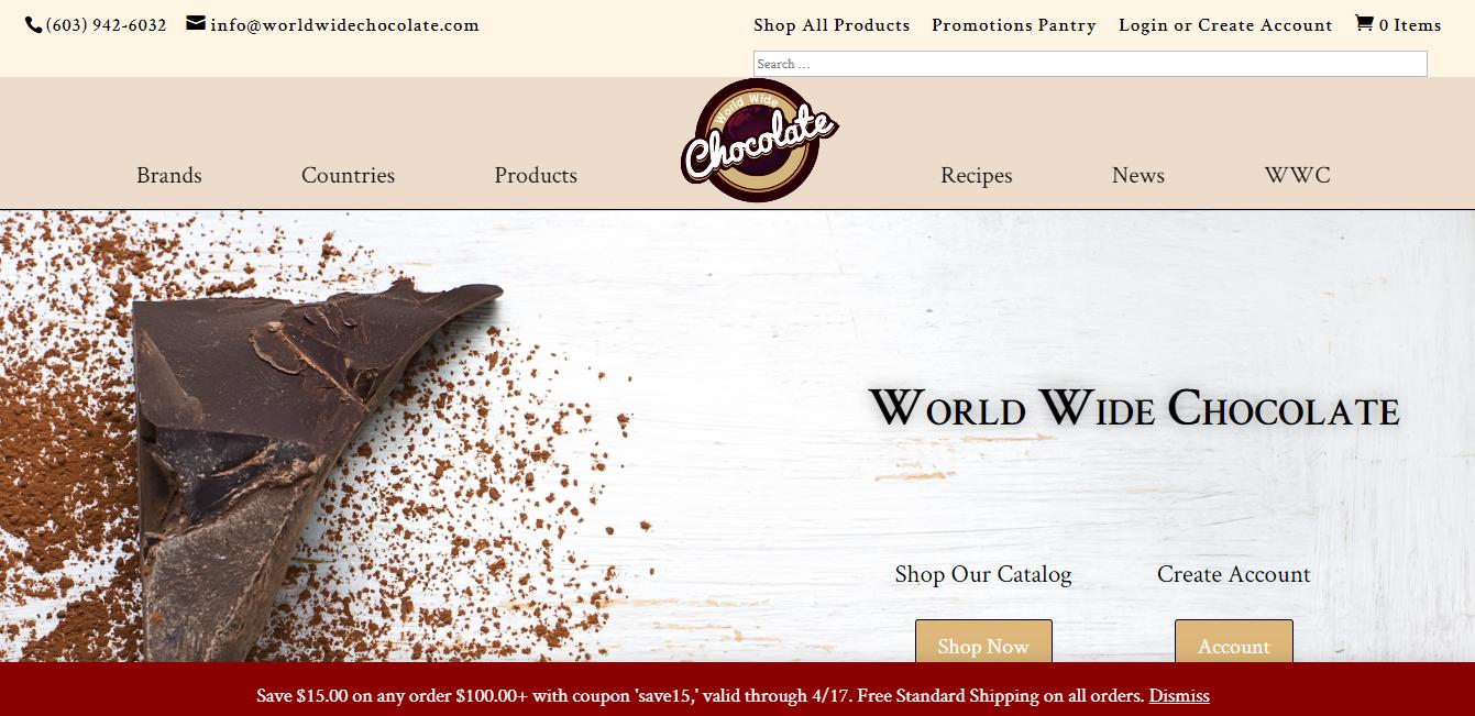 world wide chocolate website