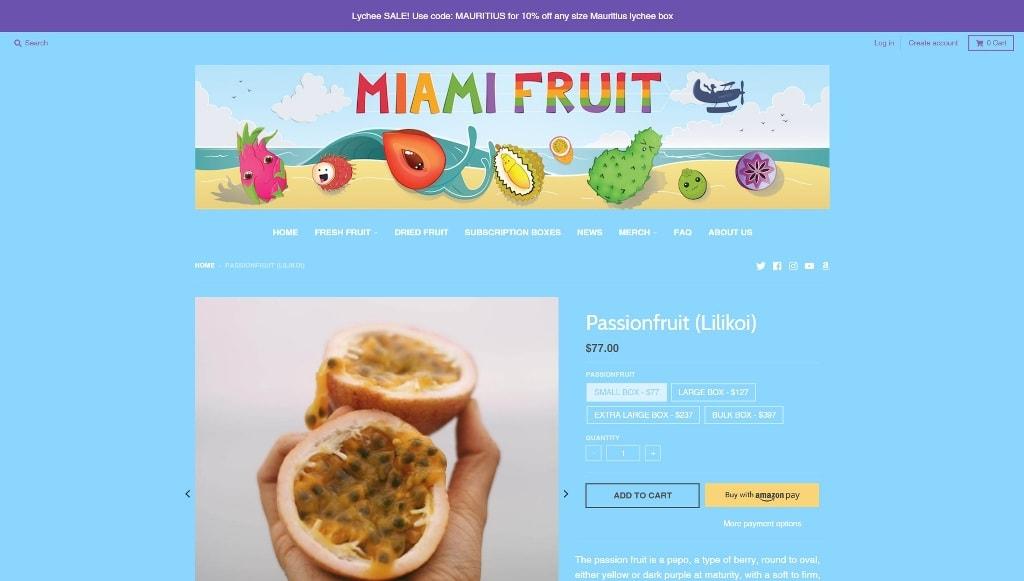 Miami Fruit Passion Fruit Lilikoi Box