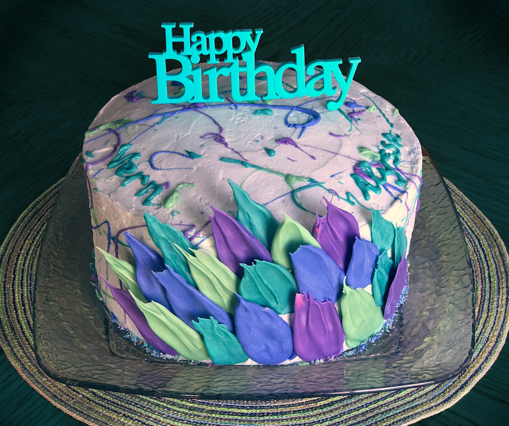 brush stroke cake